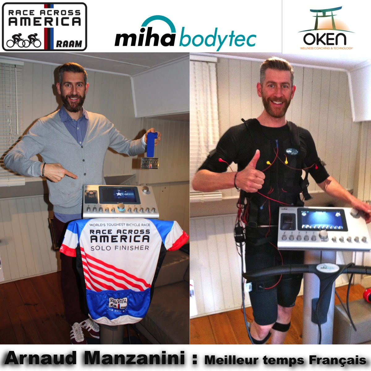 Arnaud Manzanini, sportif de haut niveau, cycliste d'Ultra Distance