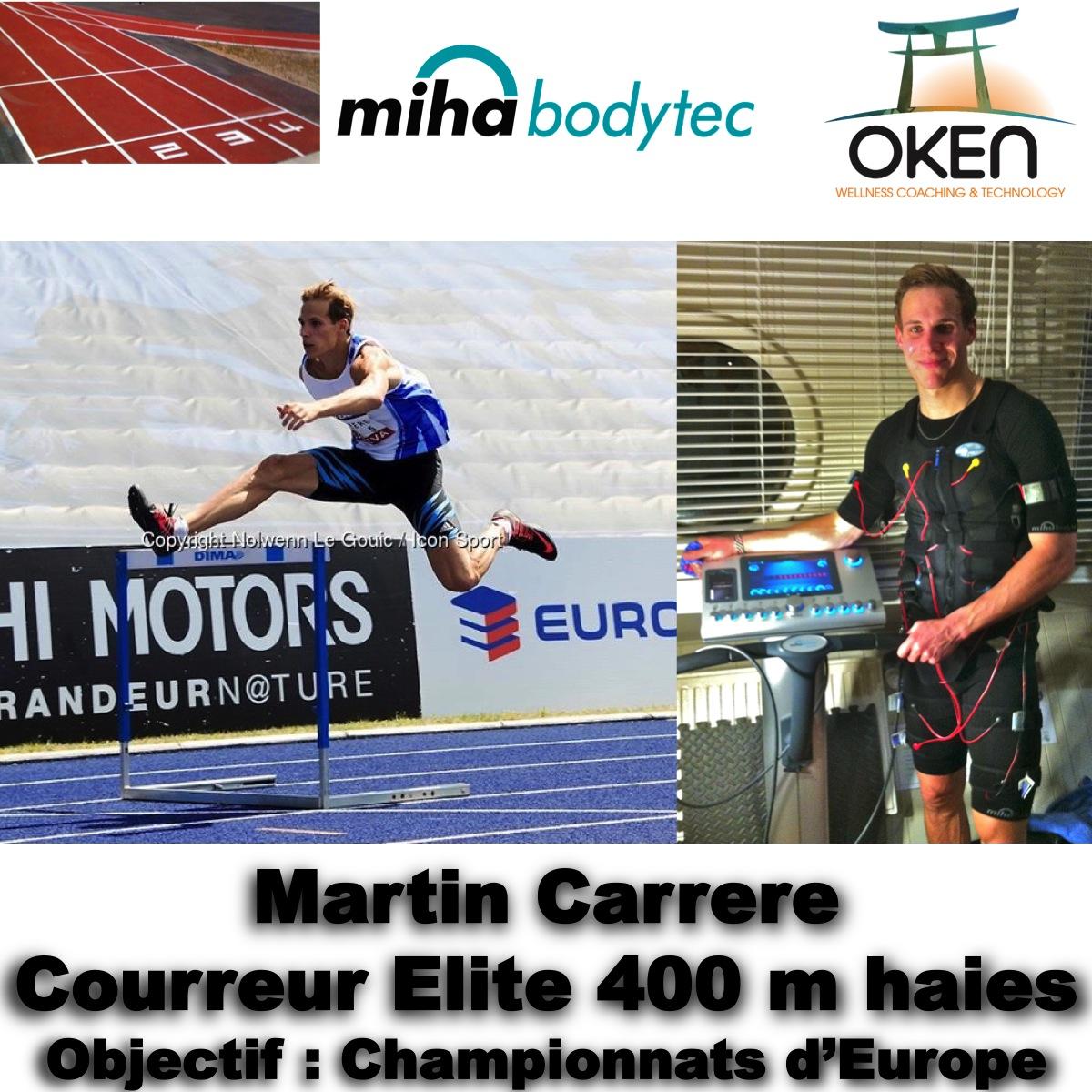 Martin Carrere, sportif de haut niveau, après un premier protocole de 10 séances réparties sur 2 mois et demi.